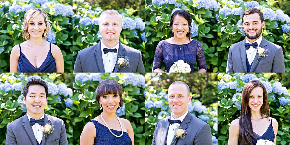 bridesmaids grooms men at parsons garden seattle