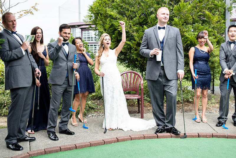 wedding party at interbay golf putt putt