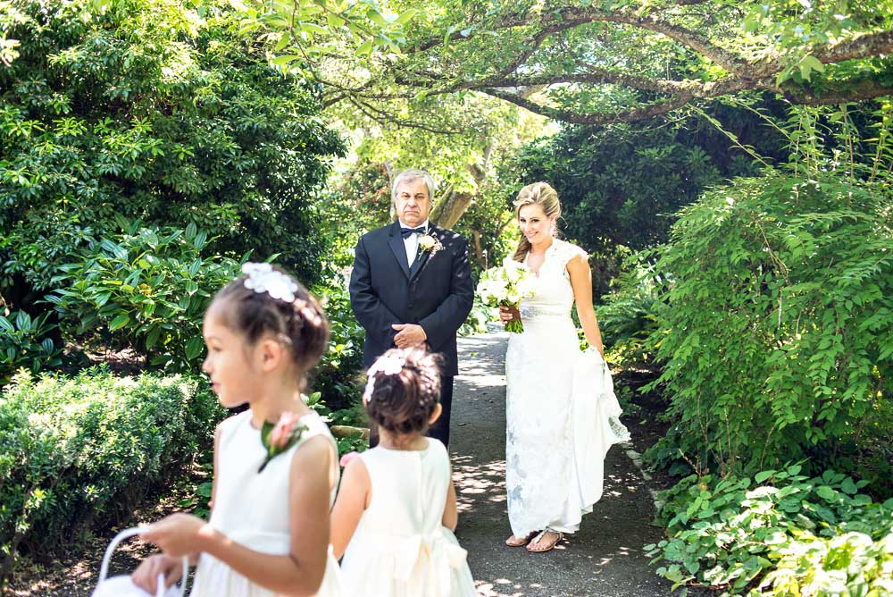bride and father at parsons garden